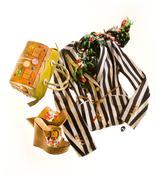 striped blazer fashion composition - stock photo