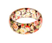 Flowers print transparent bracelet Stock Photos