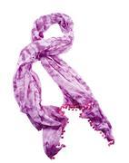 Purple tie dye neckerchief with pom poms Stock Photos