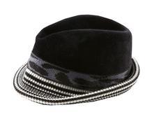 Felt and knit fedora hat Stock Photos