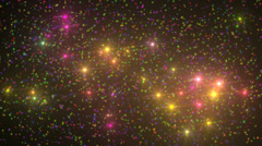 Stock Video Footage of molecule light stars sky