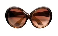 Big brown rimmed vintage sunglasses Stock Photos