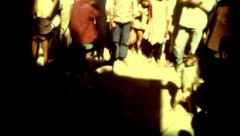 Indiana Nepal colcher Kathmandu crowd monkey poverty vintage historic outdoors Stock Footage