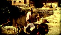 Culture Nepal colcher Kathmandu lifestyle poverty vintage historic outdoors Stock Footage