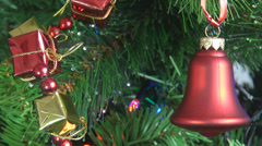 Xmas bell red Merry Christmas ornamentation decoration evening holidays indoor  Stock Footage