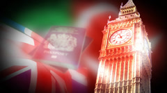Big ben tower Background Animation Stock Footage