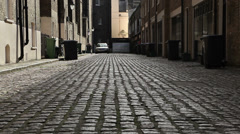 London mews street with cobbles - stock footage