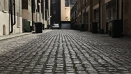 Stock Video Footage of London mews street with cobbles