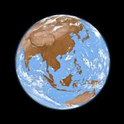 southeast asia on earth - stock illustration