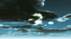 Moon night sky Stock Footage