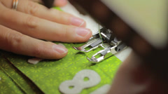 a close up shot of sewing christmas advent calendar - stock footage