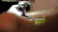 close up of sewing an advent calendar - stock footage