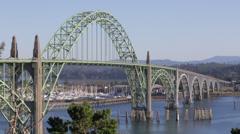 Bridge at Yaquina Bay, Newport, Oregon Stock Footage
