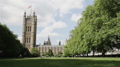 Victoria Park, Houses of Parliament, London, UK Stock Footage