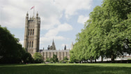 Stock Video Footage of Victoria Park, Houses of Parliament, London, UK