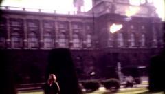 8mm old film Vienna, Austria Hofburg Palace vintage historic Stock Footage