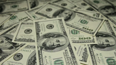 A lot of money on the table. Slider shot. Stock Footage