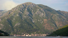 Bay of Kotor, Perast, mountain Stock Footage