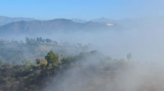 Fog over Hollywood Hills Stock Footage