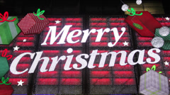 Merry Christmas Sign Stock Footage