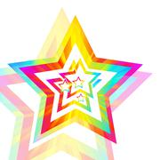 Abstract star spectrum background Stock Illustration