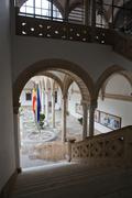 cloister of the city hall, ubeda, andalusia, spain - stock photo