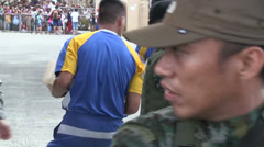 Typhoon Haiyan Philippines - Civilians Extraction - 02 Stock Footage