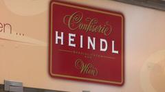 Viennese chocolates. Heindl Confiserie in Vienna Stock Footage