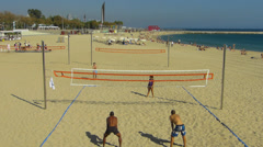 Beach Volley Ball game match competition Stock Footage