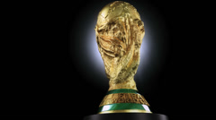 FIFA World Cup trophy 03 Stock Footage