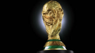 Stock Video Footage of FIFA World Cup trophy 03