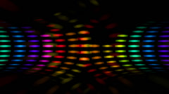 Disco Dots Graphic Equalizer Circle - stock footage