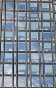 Featured buildings in a skyscraper of a metropolis Stock Photos