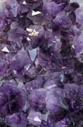 Mineral precious purple with very reflective and sparkling gems Stock Photos