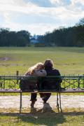 Stock Photo of couple on park bench