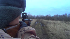 Hunter shoots Stock Footage