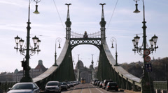 Freedom Bridge Budapest Stock Footage