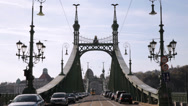 Stock Video Footage of Freedom Bridge Budapest