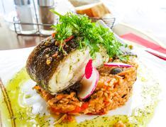 exquisite french cuisine - stock photo