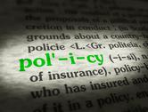Stock Illustration of Dictionary - Policy - Green On BG