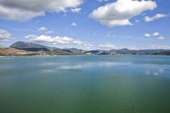 Stock Photo of reservoir of iznajar, cordoba province, spain