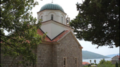 Church in Kumbor, Montenegro Stock Footage
