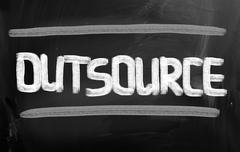 outsourcing concept - stock illustration