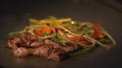 Food On Grill 01 - Slow Motion - stock footage