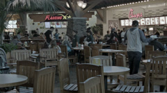 Mall food court busy lunch crowd security HD 1224 - stock footage