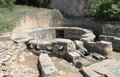 castellum divisorum in nimes, france - stock photo