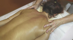 Professional massage and lymphatic drainage Stock Footage