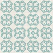 vintage seamless pattern with victorian motif - stock illustration