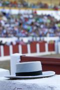 Typical hat of cordoba on the refuge in a bullring Stock Photos