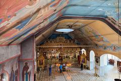 Interior of russian orthodox church Stock Photos